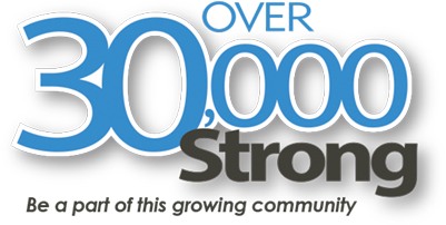 Over 30,000 strong. Be a part of this growing community.